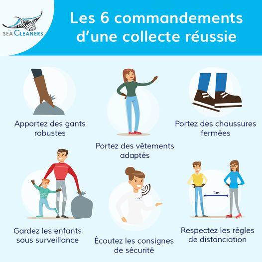 Seacleaners Bretagne - les 6 commandements